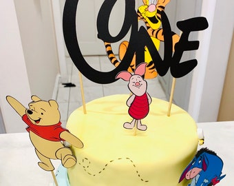 1st Birthday Pooh Cake Toppers Piglet Topper Eeyore One Tigger Decorations