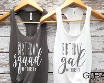 2ee3d7e4a Birthday tank top / Birthday squad tank top/ Birthday Tank top / It's My  Birthday