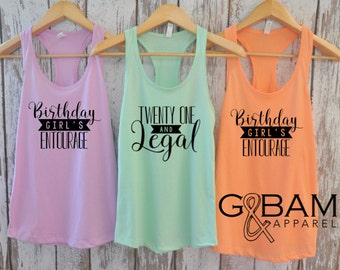 Birthday Party Tank Top 21st Shirt Twenty One