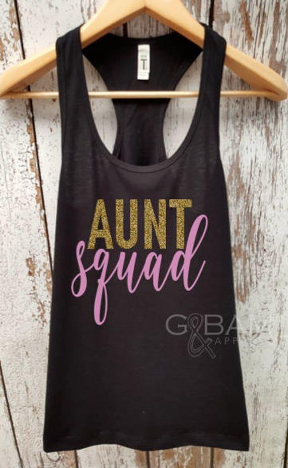 AUNT SQUAD tank top / Aunt Tank top / Pregnancy reveal / We're pregnant