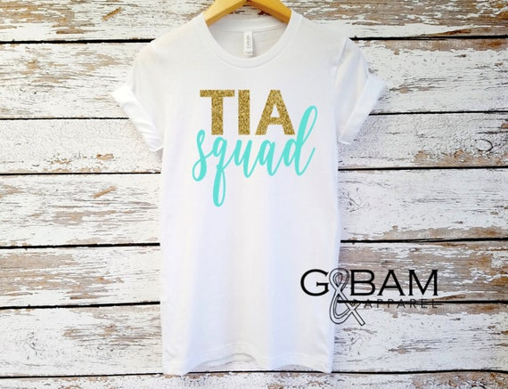 Tia SQUAD / Tia shirt / New Tia / Aunt  Shirt / Auntie tee/ You're a Aunt / new aunt gift / future auntie / we're Pregnant / Item: 148976