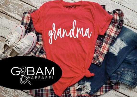 Customizable Grandma SHIRT /Grandma Shirt / Nana Shirt / Grandma gift / future grandma / we're Pregnant