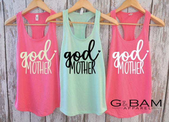 God Mother Tank top / will you be my godmother / Godmother gift / Godmother shirt / Godmother Tank