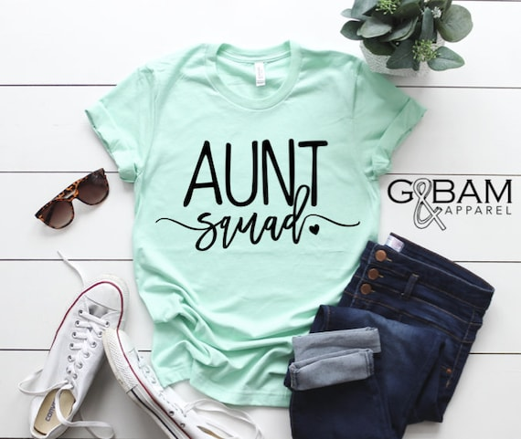 AUNT SQUAD /Auntie tee/ You're a Aunt / new aunt gift / future auntie / we're Pregnant / Item: 148976
