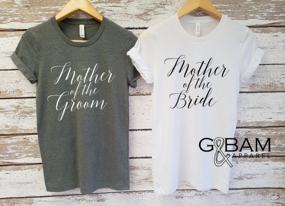 Custom Boyfriend T-shirt / Mother of the Bride Shirt / Mother of the Groom Shirt
