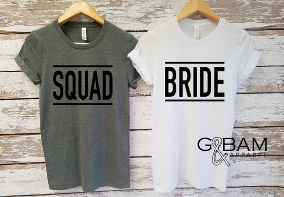 Boyfriend T-shirt / Bride Shirt or Squad shirt / Mrs. Shirt / Bride Shirt / Future Mrs.