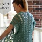 Crochet Pattern: The Summer Ivy Cardi/Lacy Crochet Top/Crochet Summer Top/Crochet Spring Top/Crochet Cardigan/Light Crochet Top