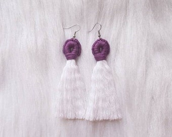 Rockin' Purple Boho Tassel Earrings - Summer Collection