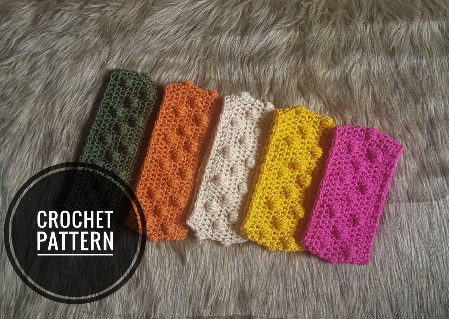 Crochet Pattern Bobble Headband The Leanne Headband Crochet Etsy