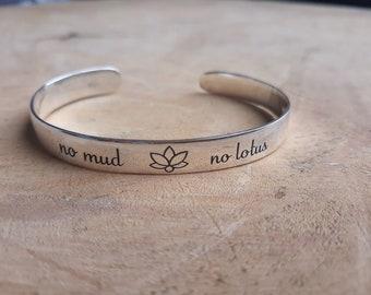 No Mud No Lotus Silver Cuff 873e24cc0031a