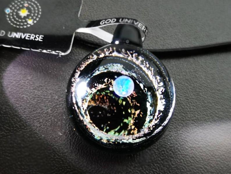 Universe Necklace Galaxy Pendant SD01 Glass Galaxy Necklace-Glass Necklace Pendant -Borosilicate -Nebula Pendant Universe Jewelry
