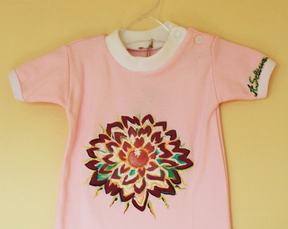 "Body ""Great Velvet Flower"" for baby girl 0-6 months"
