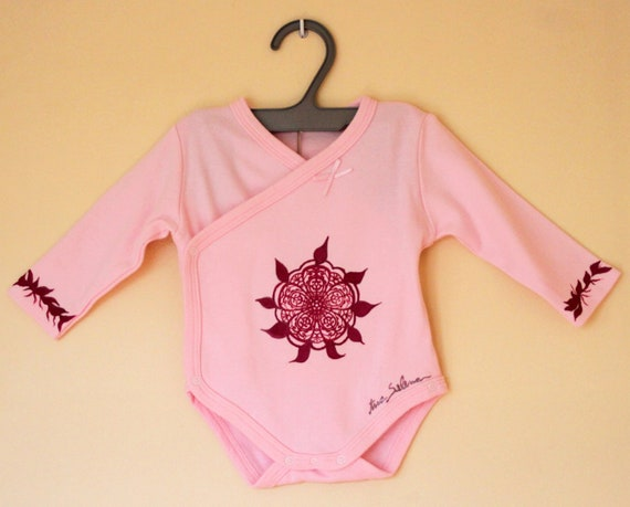 "Body ""Rosace"" for baby girl 0-3 months"