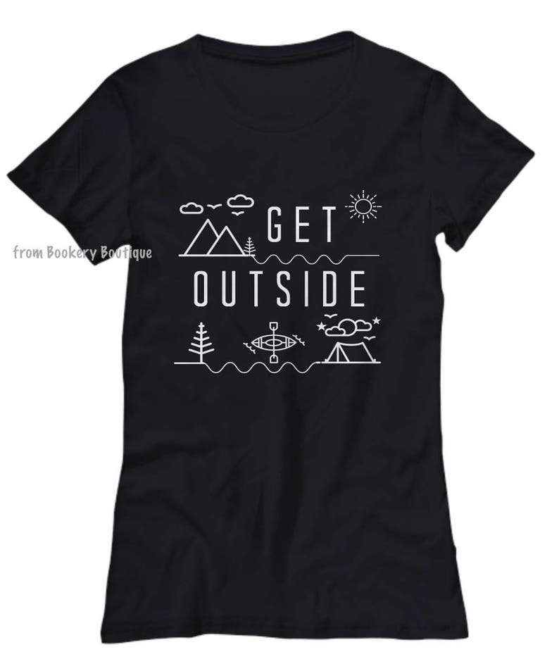 139fa867 GET OUTSIDE Camping Shirt Nature Lover Gift PNW Womens | Etsy