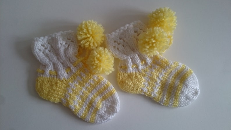 Hand knit baby socks 9-12 month Knitted baby socks Hand knitted baby socks Baby Gift Knit baby socks Baby Slippers Baby shower gift
