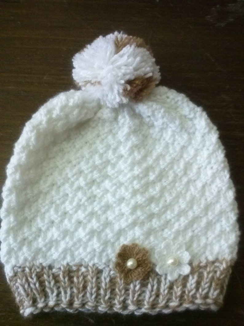 67efe0b21 White Winter hat, Knit Wool hat, Cable Knit Hat, Cable Knit Beanie, White  hat, White cap, Hand knit hat, Womens Beanie, Handmade hat