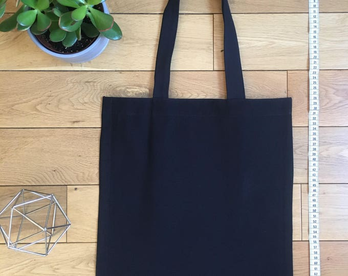 Navy blue two tone fabric Tote Bag with zip compartment