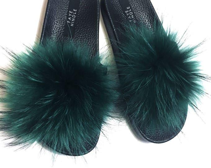 Bright Green Raccoon Slides