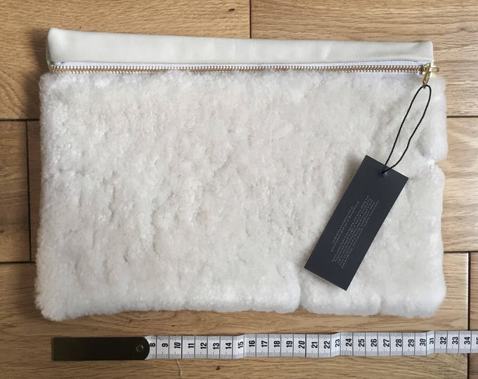 Natural sheepskin & Cowhide Pouch