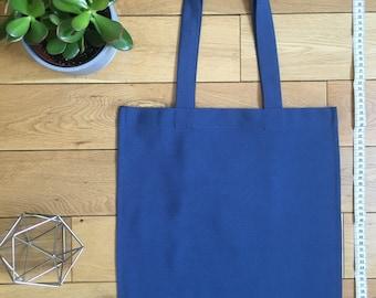 Mid Blue Cotton twill Tote bag
