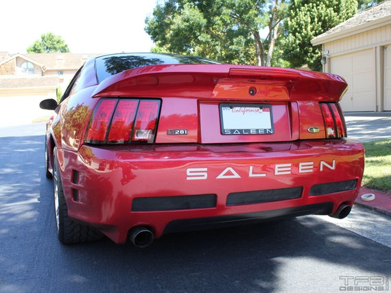 set ford saleen 99 04 mustang rear bumper insert decals etsy