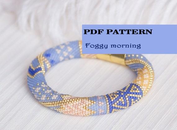 Beaded Crochet Bracelet Pattern Seed Beads Rope Pattern Etsy