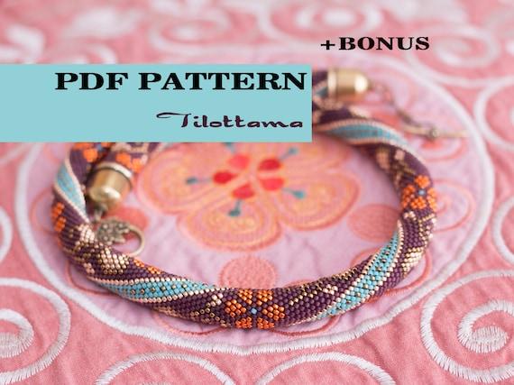 Pdf Pattern For Beaded Crochet Necklacebonus Seed Bead Rope Etsy