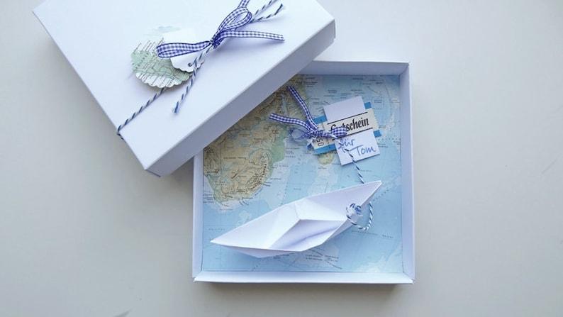 Money Gift Packaging Travel voucher ship for birthday wedding image 0