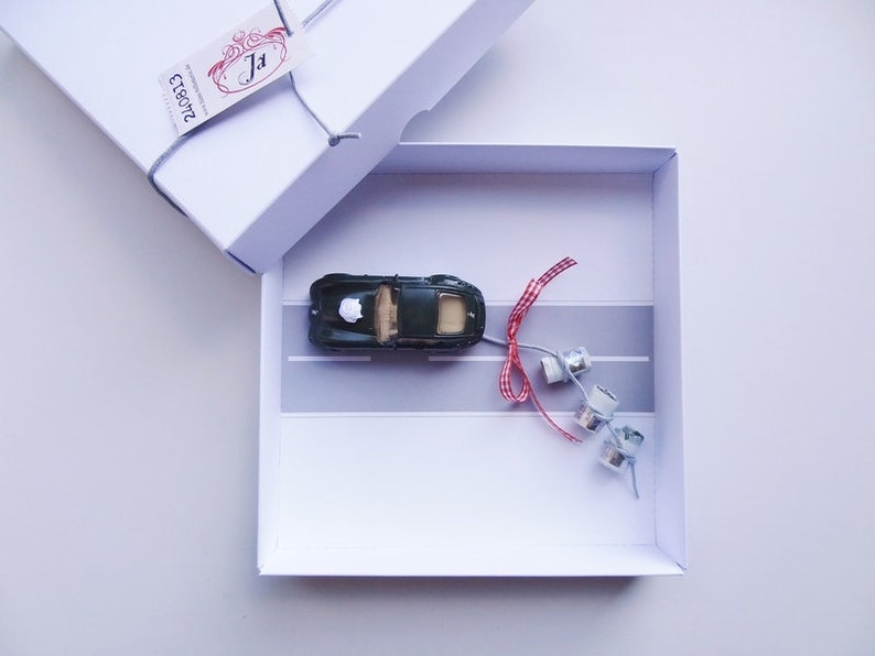 Personalized Money Gift Wedding Car Railway image 0