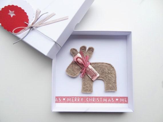 Weihnachtsgeschenk Geldgeschenk Weihnachten Rentier Fur Sie Etsy