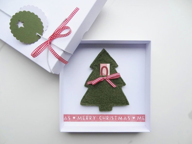 Christmas gift money gift Christmas fir tree for him and her image 0