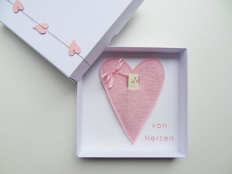 Money Gift packaging heart for wedding birthday image 0