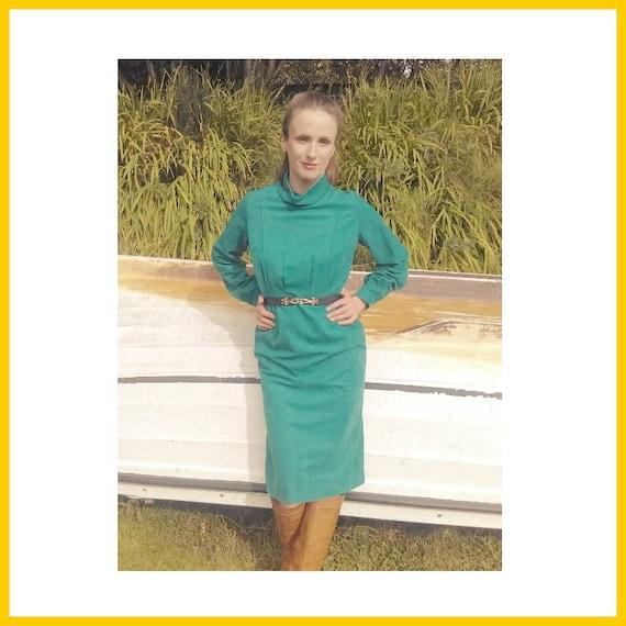 Emerald Winter Dress