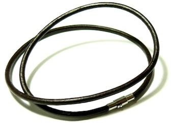Acier Inoxydable Fermeture Magnétique Poli Noir Ø 6 mm bracelet fabrication Rond id6