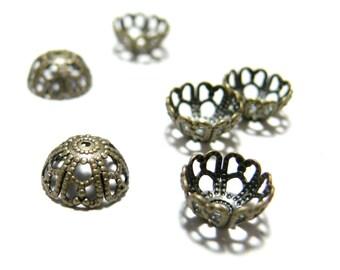 10pcs P506 cups lace brass bronze caps