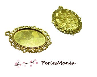 10 blank pendant 18 mm by 25 H15257 retro Golden for jewelry making