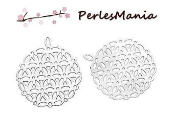 PRINTS 10 LACE SILVER PLATINUM S1180985 STAINLESS STEEL