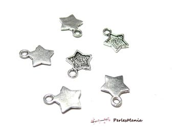 Crafting supplies: 50 star Antic silver OB681 pendants