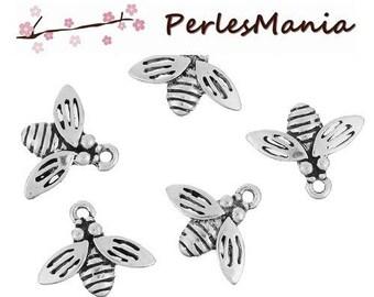 PAX 30 pendants bee antique silver S1184066, DIY