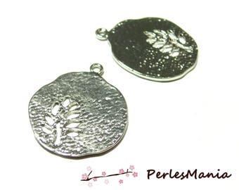 Crafting supplies: 2 pendants silver stylistic GM tree Platinum OB14719