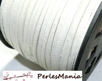 2 m of white 5 mm S1121 suede cord
