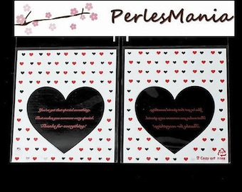 100 PLASTIC HEART, GIFT WRAPPING BAGS