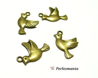 Crafting supplies: 10 2D2134 Bronze bird pendants