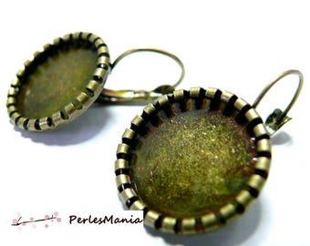 1 pair of earring roll 14 mm BRONZE, DIY