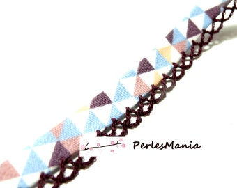 1m ruban biais Triangle et Dentelle 12mm 7170216 couleur 2450