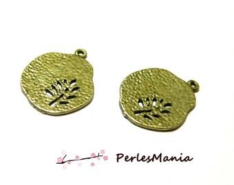 Crafting supplies: 10 pendants tree stylized Bronze OB14720 PM
