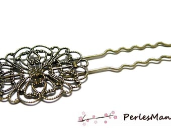 2 support HAIRPIN lace oval Bronze