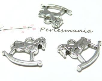 Primer 10 pieces NO2B3451 silver old rocking horse