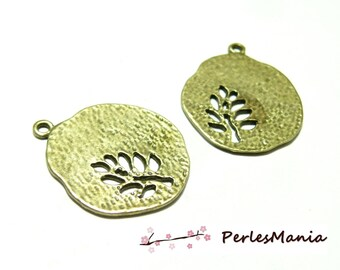 Crafting supplies: 2 pendants tree stylized Bronze OB14719 GM