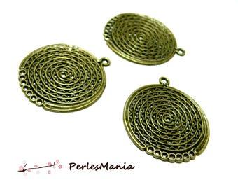 Crafting supplies: 2 Bronze OB648 multiconnecteurs pendants